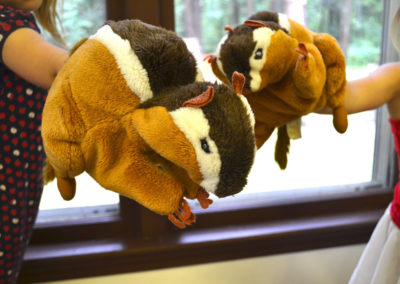 acorn chipmunk puppets